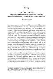 Tarik Ulur KKR Aceh - KontraS