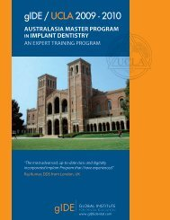 gIDE / UCLA 2009 - Institute for Dental Implants