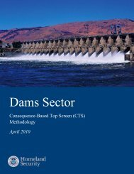 Dams Sector Consequence-Based Top Screen Methodology