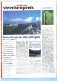 lntensivkursus Alpenfliegen - Quo Vadis
