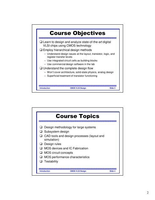 Course Objectives Learn