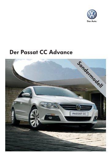 Der Passat CC Advance - Sprüngli Druck AG