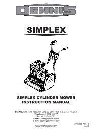 Instruction Manual for Dennis Simplex Series (pdf - 8.7mb)