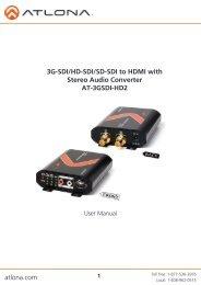 3G-SDI/HD-SDI/SD-SDI to HDMI with Stereo Audio Converter AT ...
