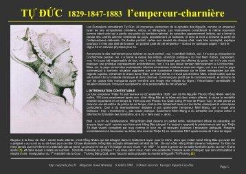TỰ ĐỨC 1829-1847-1883 l'empereur-charnière - Chim Việt Cành ...
