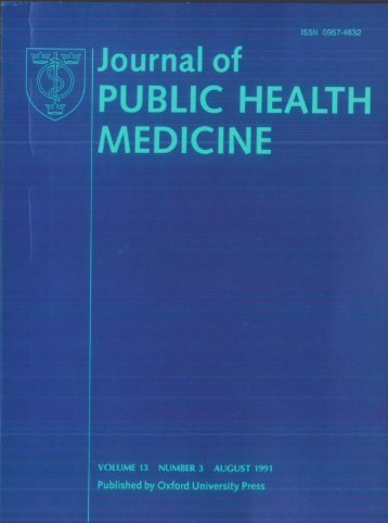 Front Matter (PDF) - Journal of Public Health