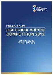 COMPETITION 2012 - Bond University
