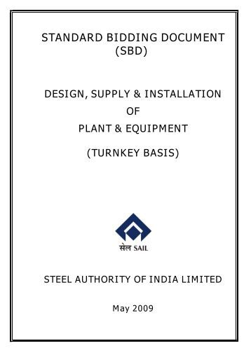 standard bidding documents - BHEL - Industrial Systems Group