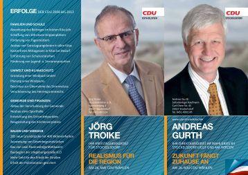 AndreAs Gurth jörG troike - CDU OV Stockelsdorf