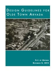 New Zoning District and Design Guidelines for Olde Town Arvada
