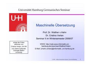 aber keine - SLM - Universität Hamburg
