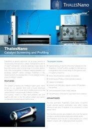 Catalyst Screening Using H-Cube - ThalesNano