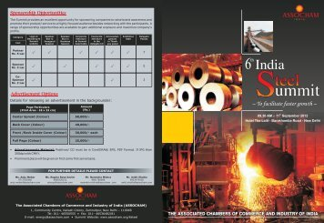 Steel Brochure-2012 final - The Associated Chambers of Commerce ...