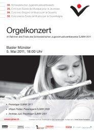 Orgelkonzert - Musik-Akademie Basel