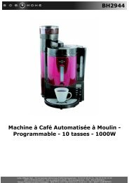 BH2944 Machine à Café Automatisée à Moulin ... - BOB HOME