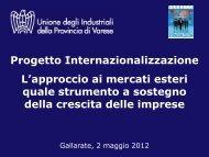 Progetto Internazionalizzazione