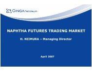 NAPHTHA FUTURES TRADING MARKET