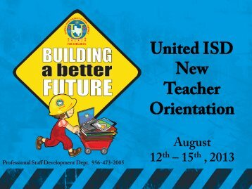 Elementary New Teachers - United Independent School District