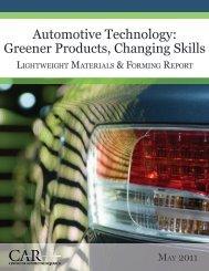 Automotive Technology: Greener Products, Changing Skills