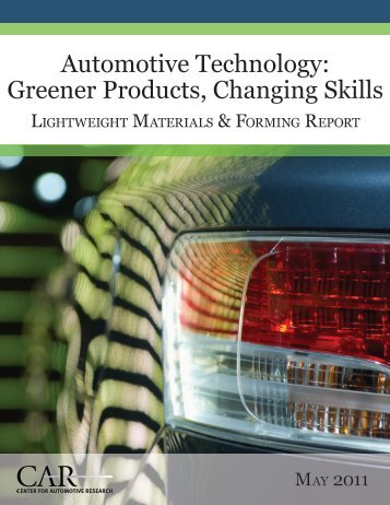 Automotive Technology: Greener Products, Changing Skills