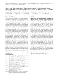 Klimawandel und Forstwirtschaft ... - Wald & Klima