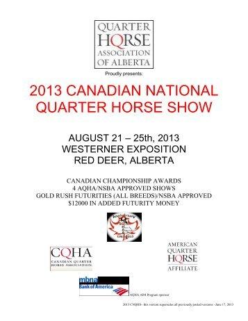 2007 canadian nation quarter horse show - Alberta Quarter Horse ...