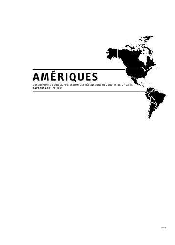 Amériques - L'obstination du témoignage - Rapport 2011 - FIDH