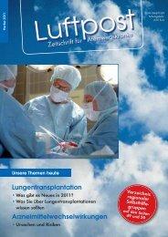 Lungentransplantation 2011 - Patientenliga ...