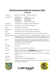 Bezirksmeisterschaft der Senioren 2013 - Sportverbund-login.de