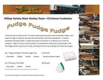 Fudge Fundraiser Form - Sport.ca
