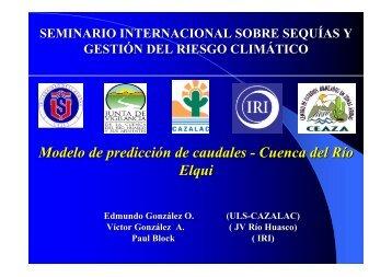 Modelo de predicción de caudales - Cuenca del Río Elqui - cazalac