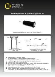 Bouton-poussoir ill. par LED, type LDT 15