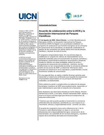 Acuerdo de colaboración entre la UICN y la Asociación ...