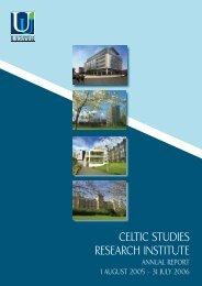 CELTIC STUDIES RESEARCH INST BKLT.indd