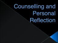 Counselling and Personal Reflection - Counselling Connection