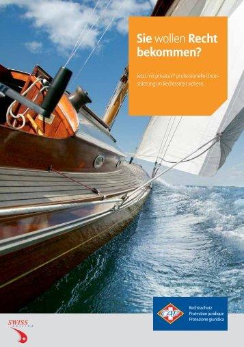Der Flyer. - Swiss-Sailing