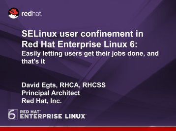 Confining Users with SELinux in Red Hat Enterprise Linux 6 - Mil-OSS