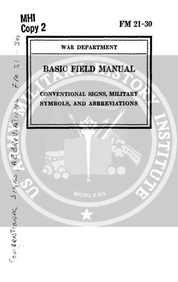 Fm 30 35 Basic Field Manual Military Intelligence Identification Of