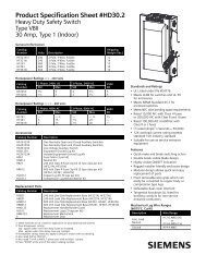 Product Specification Sheet #HD30.2 Heavy Duty ... - C & E Sales, Inc.