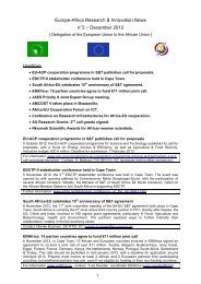 Europe-Africa Research & Innovation News n°2 – December 2012