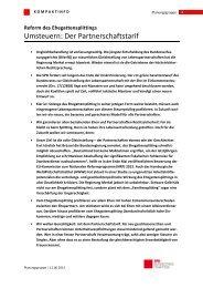 Kompaktinfo: Umsteuern! Reform des Ehegatten - Karin Roth, MdB