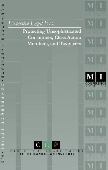 Excessive Legal Fees - Manhattan Institute