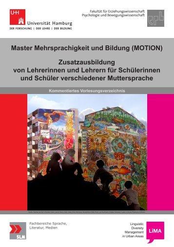Master Mehrsprachigkeit und Bildung (MOTION) Zusatzausbildung ...