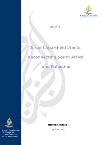 Israeli Apartheid Week: Reconnecting South Africa and Palestine