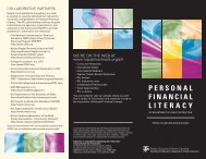 PERSONAL FINANCIAL LITERACY - Public Schools of North Carolina