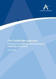 The Cambridge Approach - Cambridge Assessment