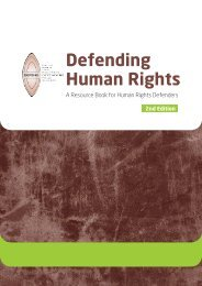 Defending Human Rights: A Resource Book for Human