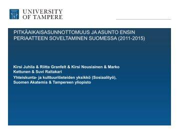 Tampereen yliopiston asunto ensin -tutkimushanke