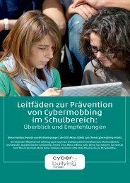 Leitfäden zur Prävention von Cybermobbing im ... - Schulpsychologie