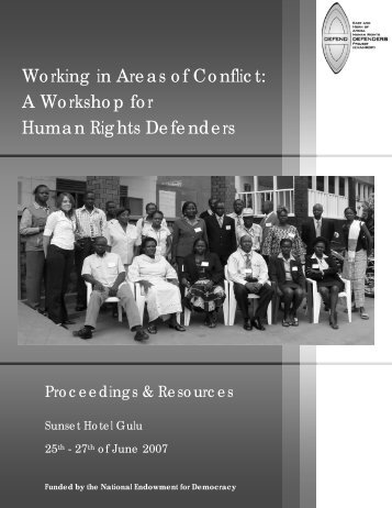Working in Areas of Conflict: A Workshop for Human Rights Defenders